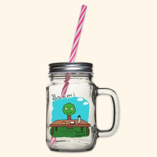 Baumi - Tee für alle! *bunt* - Henkelglas mit Schraubdeckel