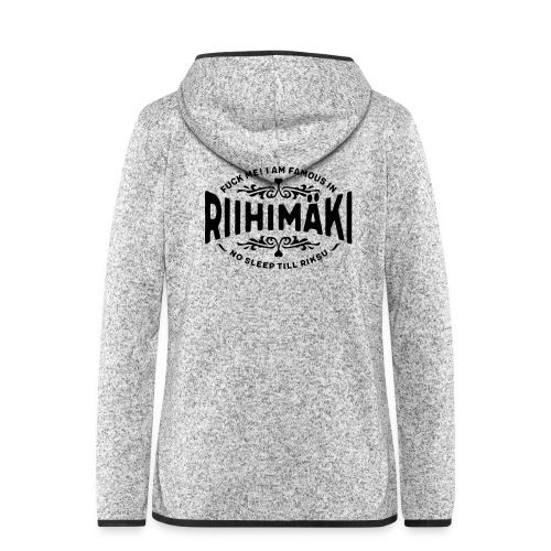Riihimäki - Fuck Me! - Naisten hupullinen fleecetakki