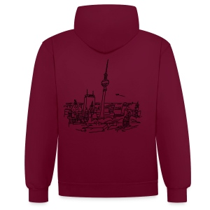 Panorama of Berlin - Contrast Colour Hoodie