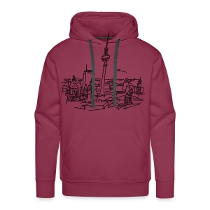 Panorama of Berlin - Men's Premium Hoodie