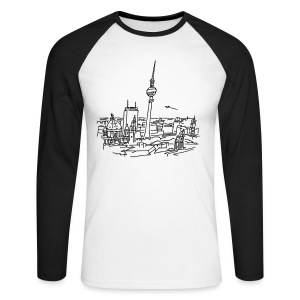 Panorama of Berlin - Men's Long Sleeve Baseball T-Shirt
