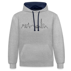 Skyline of Berlin - Contrast Colour Hoodie