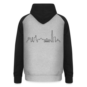 Skyline of Berlin - Unisex Baseball Hoodie