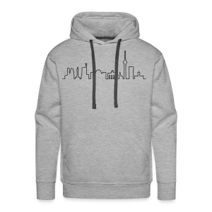 Skyline of Berlin - Men's Premium Hoodie