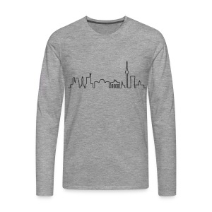 Skyline of Berlin - Men's Premium Longsleeve Shirt