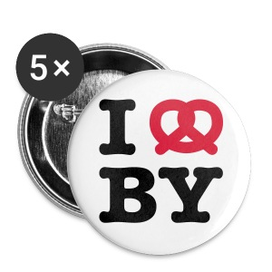 I ❤ BY × I Love Bayern - Buttons klein 25 mm