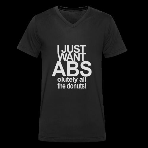 I just want Donuts - Männer Bio-T-Shirt mit V-Ausschnitt von Stanley & Stella