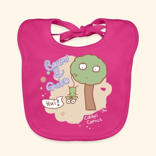 Sanfte Farben Baumi & Gecko - Baby Bio-Lätzchen