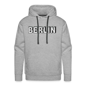 Berlin Block font T-Shirts - Men's Premium Hoodie