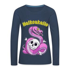 Halkeakallo - Naisten premium pitkähihainen t-paita