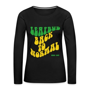 Leafbud Back to Normal - Naisten premium pitkähihainen t-paita