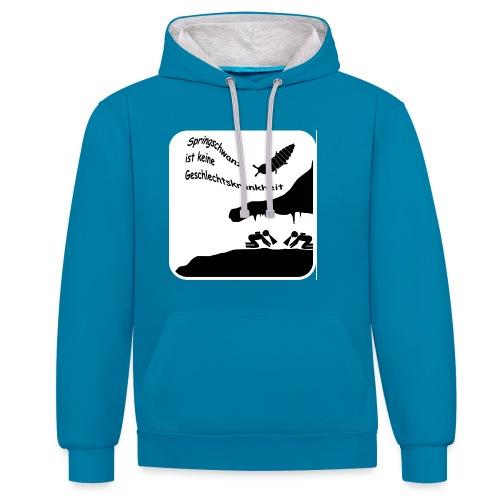 Springschwanz Männer T-Shirt B&C - Kontrast-Hoodie