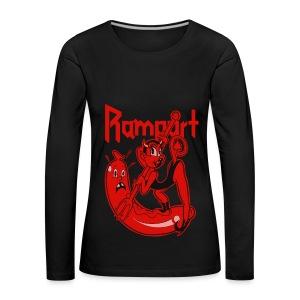 Rampart - Demon Lover Cartoon (Womens) - Naisten premium pitkähihainen t-paita