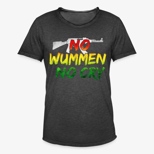 No Woman No Cry - Männer Vintage T-Shirt