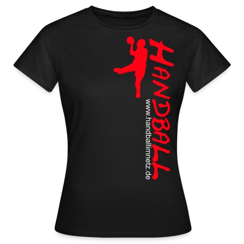 Werfer rot Handball im Netz WOMEN - Frauen T-Shirt