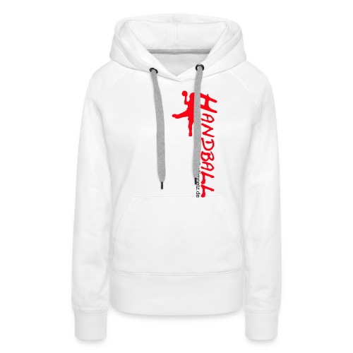 Werfer rot Handball im Netz WOMEN - Frauen Premium Hoodie