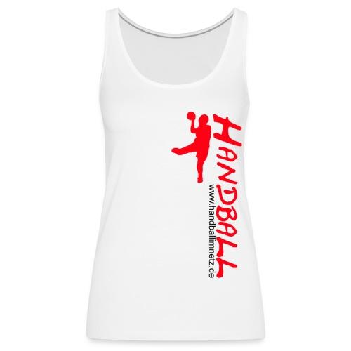 Werfer rot Handball im Netz WOMEN - Frauen Premium Tank Top