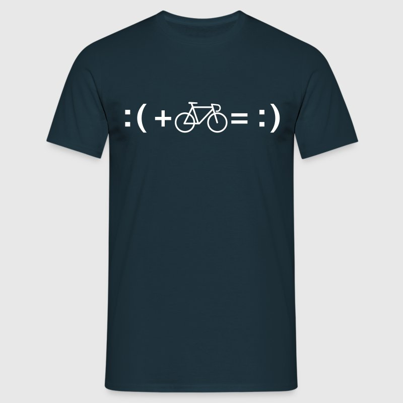 Formula For Happiness (Bike) T-skjorter - T-skjorte for menn