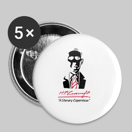 MTPd2: H.P. Lovecraft - A Literary Copernicus (2-farbig) - Buttons klein 25 mm