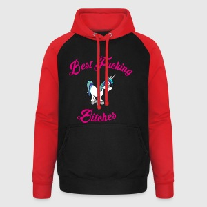 Best fucking Bitches 2 Tops - Unisex Baseball Hoodie