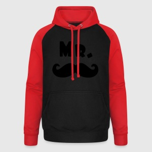 mr moustache - Sweat-shirt baseball unisexe