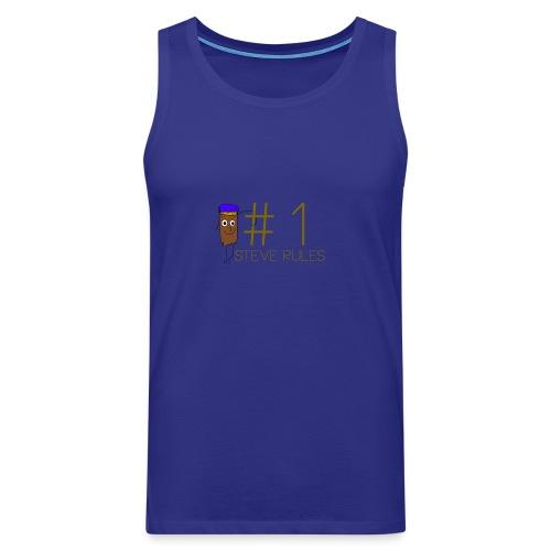 Number 1 Steve Rules T-shirt - Men's Premium Tank Top