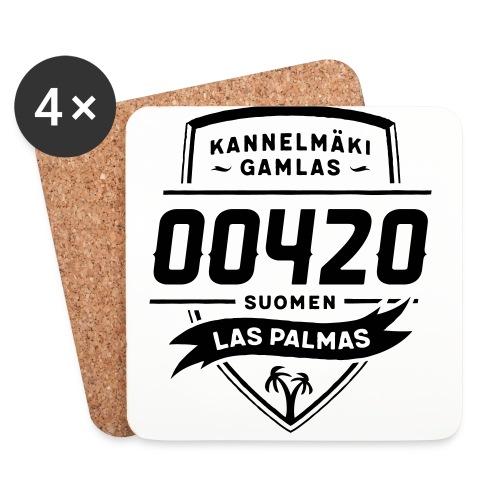 Kannelmäki Gamlas - Suomen Las Palmas - Lasinalustat (4 kpl:n setti)