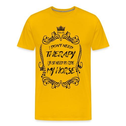 Therapy vs Horse - Men's Premium T-Shirt
