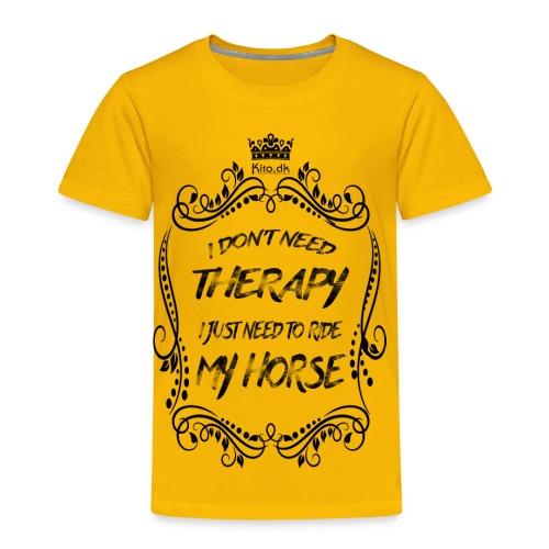 Therapy vs Horse - Kids' Premium T-Shirt