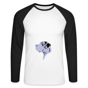 Harlekindogge Turnbeutel - Männer Baseballshirt langarm