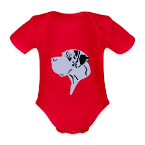 Harlekindogge Turnbeutel - Baby Bio-Kurzarm-Body