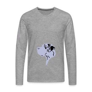 Harlekindogge Turnbeutel - Männer Premium Langarmshirt