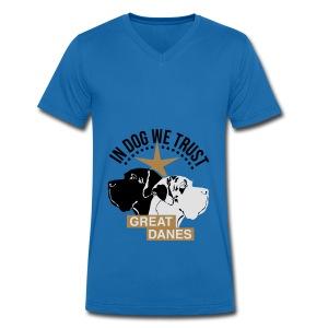 Harlekindogge Turnbeutel - Männer Bio-T-Shirt mit V-Ausschnitt von Stanley & Stella