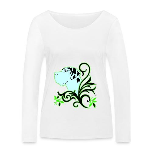 Harlekindogge Turnbeutel - Frauen Bio-Langarmshirt von Stanley & Stella