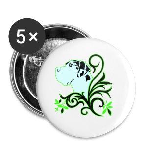 Harlekindogge Turnbeutel - Buttons klein 25 mm