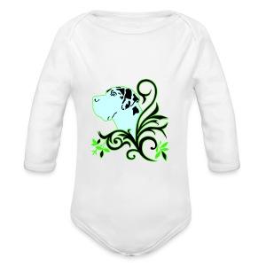 Harlekindogge Turnbeutel - Baby Bio-Langarm-Body