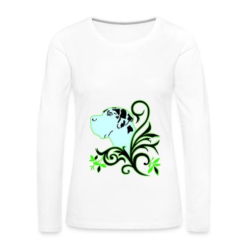 Harlekindogge Turnbeutel - Frauen Premium Langarmshirt
