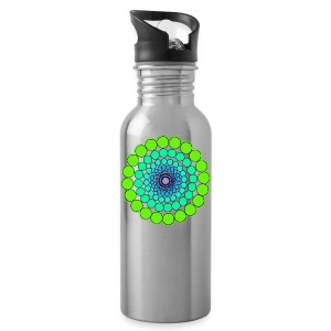 Green Spectrum Mandala - Water Bottle