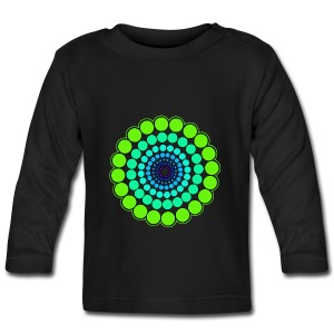 Green Spectrum Mandala - Baby Long Sleeve T-Shirt