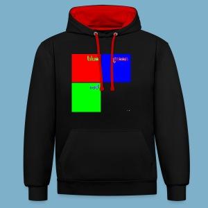 Fundago Color Motiv - Kontrast-Hoodie