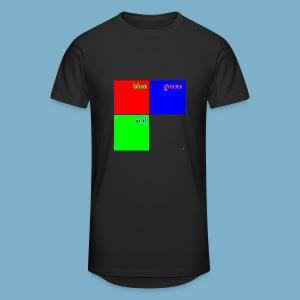 Fundago Color Motiv - Männer Urban Longshirt