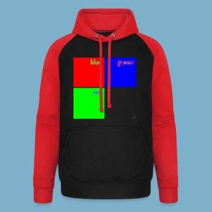 Fundago Color Motiv - Unisex Baseball Hoodie