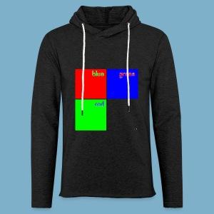 Fundago Color Motiv - Leichtes Kapuzensweatshirt Unisex