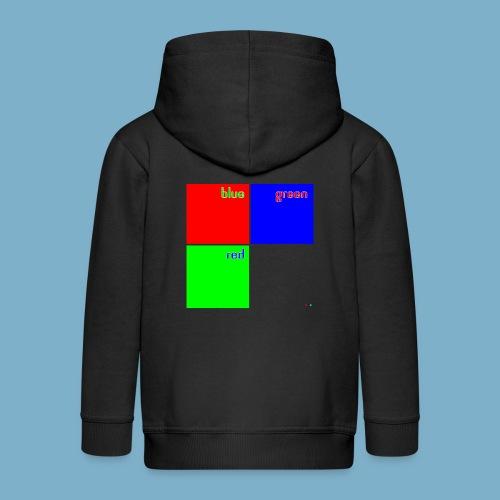 Fundago Color Motiv - Kinder Premium Kapuzenjacke