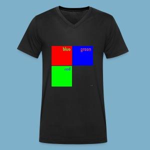 Fundago Color Motiv - Männer Bio-T-Shirt mit V-Ausschnitt von Stanley & Stella
