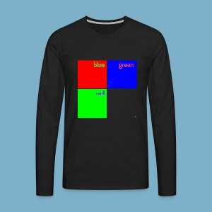 Fundago Color Motiv - Männer Premium Langarmshirt