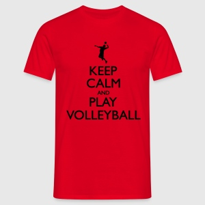 Keep Calm play Volleyball Sweat-shirts - T-shirt Homme