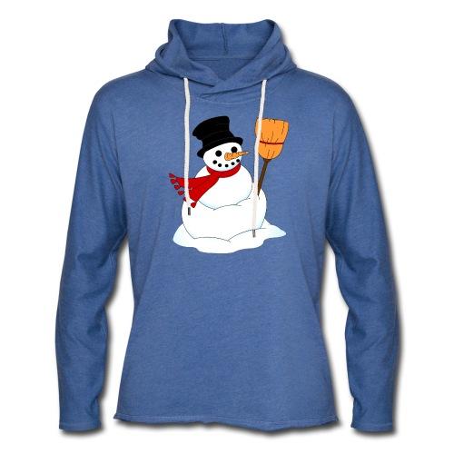 Snemand m. kost - Let sweatshirt med hætte, unisex