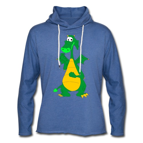 Sød drage - Let sweatshirt med hætte, unisex