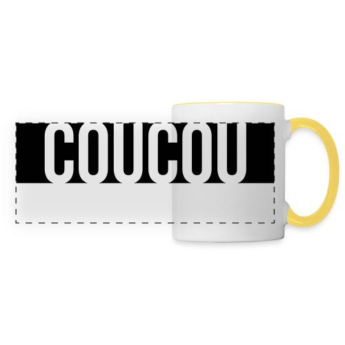 Coucou [1] Black - Mug panoramique contrasté et blanc